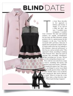 """""""What to Wear: Blind Date"""" by leslee-dawn ❤ liked on Polyvore featuring RED Valentino, Boohoo, Lipstick Queen, Yves Saint Laurent, Kate Spade, women's clothing, women, female, woman and misses"""