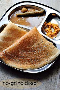 Dosa Batter With Urad Flour & Rice Flour (No-Grind Dosa Batter Recipe) - Edible Garden Appam Recipe, Dosa Recipe, Urad Dal Flour Recipe, Flour Recipes, Cooking Recipes, Dosa Batter Recipe, Plain Dosa, Indian Breakfast, South Indian Food