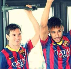messi, neymar, and Barcelona image Messi And Neymar, Cristiano Ronaldo Lionel Messi, Good Soccer Players, Football Players, Soccer Boyfriend, Cr7 Junior, God Of Football, Neymar Brazil, Leonel Messi