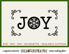 SVG Winter Joy svg christmas svg christmas ornament snowflake joy file design sign - dxf eps studio3 - Cricut & Silhouette cutting file
