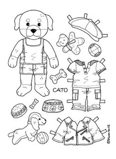Karen`s Paper Dolls: Cato Paper Doll to Print and Colour. Colored Paper, Colored Pencils, Coloring Sheets, Coloring Pages, Vintage Coloring Books, Paper Dolls Printable, Paper Fashion, Art Bag, Felt Diy