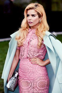 Paloma arrives at Burberry AW14 Menswear Show at Kensington Gardens on January 8, 2014