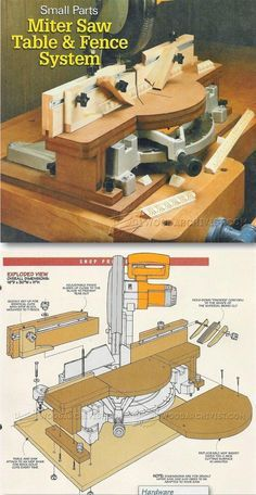 Miter Saw Fence System - Miter Saw Tips, Jigs and Fixtures | WoodArchivist.com                                                                                                                                                                                 More