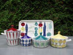 PICKNICK DESIGN MARIANNE WESTMAN FACTORY RORSTRAND SWEDEN Mid Century Modern Art, Mid Century Decor, Mid Century Design, Vintage Kitchenware, Vintage Ceramic, Swedish Design, Scandinavian Design, Porcelain Ceramics, Ceramic Pottery
