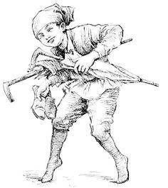 Ole Lukøje - 'Fairy tales and stories'  by Hans Christian Andersen (1805-75)  ed. Hans Lien Brækstad (1845-1915)  illustrations by Hans Tegner (1853-1932)