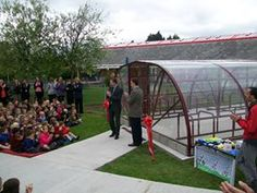 The grand opening of the new Bike Compound at Willowbrook Primary School