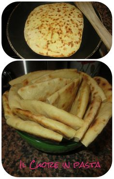 Pita greca senza lievito Italian Recipes, Vegan Recipes, Cooking Recipes, Good Food, Yummy Food, Vegan Dishes, Snacks, International Recipes, My Favorite Food