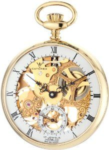Catorex Men's 180.6.1630.111 La Pautele 18k Plated Brass Skeletal Dial Pocket Watch Catorex. $542.50