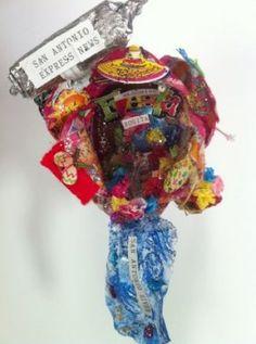 "2012 Original Fiesta Medal - ""Blooming Fiesta"" by Juanita Herrera (René A. Guzman/San Antonio Express-News) / SA"