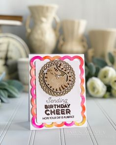 Birthday Cheer Card by Dawn McVey for Papertrey Ink (July 2018)