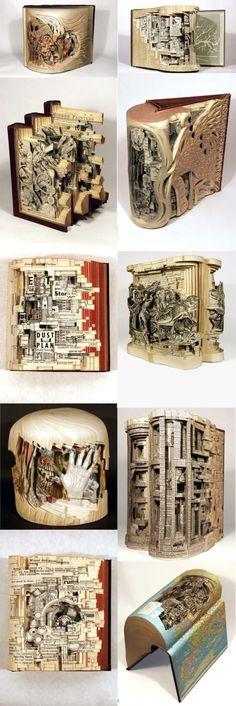 10 incredible book sculptures