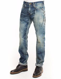 85101a7a3709d ... the PRPS Noir Jaguar Jean is made from oz denim and features a medium  wash with fading and printed black rose artwork on the back of the jean. Demon  fit ...