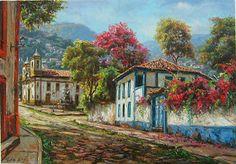 """Tulio Dias   """"Colonial""""   70x100-Óleo sobre tela-2015       ================================================="""