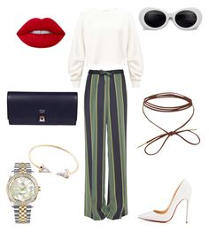 """""""Chic"""" by s-alabdulmuhsen ❤ liked on Polyvore featuring Dries Van Noten, Miss Selfridge, Christian Louboutin, Fendi, Rolex and Lime Crime"""