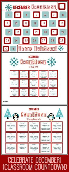 Use these free daily compliments and reward coupons to celebrate the joy of the holiday season, and encourage your students to keep working hard during the days leading up to vacation.