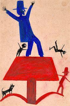 Bill Traylor, Untitled, ca. 1939–1942.