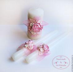 """Купить Семейный очаг """"Пионы"""" - бледно-розовый, белый, семейный очаг, свадебные аксессуары"""