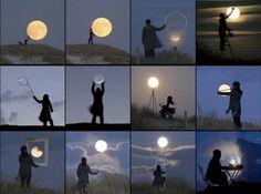 Having fun with the moon!