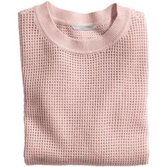 H&M Cashmere jumper (105 BAM) ❤ liked on Polyvore featuring tops, sweaters, shirts, jumper, old rose, rose print shirt, pattern shirts, long sleeve jumper, h&m sweater and print sweater