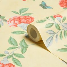 Graham & Brown Chinoiserie Imperial Yellow Floral Wallpaper | Departments | DIY at B&Q