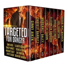 I've teamed up with 7 bestselling romantic suspense authors! Get our 8 novella e-book set for only $2.99.  https://www.amazon.com/Targeted-Danger-Christian-Romantic-Suspense-ebook/dp/B0721HGR9L?SubscriptionId=0YJ5WH0XEWNGWWCW4M82&tag=wwwcszonecom-20&linkCode=xm2&camp=2025&creative=165953&creativeASIN=B0721HGR9L&utm_content=buffer2107c&utm_medium=social&utm_source=pinterest.com&utm_campaign=buffer
