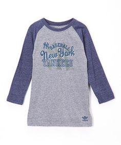 Loving this New York Yankees Fitted Raglan Tee - Girls on #zulily! #zulilyfinds