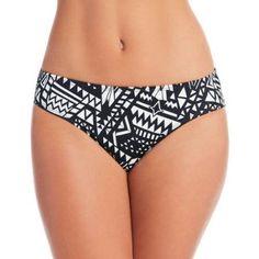 100 Degrees Women's Cheeky Bikini Bottom With Ruched Back, Black