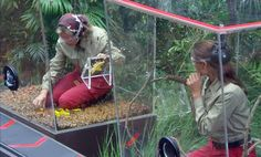 Bushtucker Trial 'Critter Conveyor' - Melanie Sykes and Kendra Wilkinson 'I'm A Celebrity...Get Me Out Of Here!' TV Programme, Australia - 05 Dec 2014