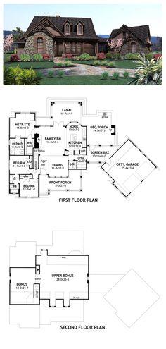 Craftsman House Plan 65866 | Total living area: 1698 sq ft, 3 bedrooms & 2.5 bathrooms. #houseplan #craftsman