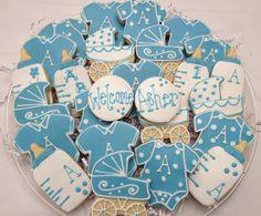 4 Smart Cookies: Baby Boy Cookies