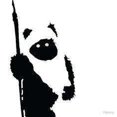 'Ewok Silhouette' T-Shirt von Kiipleny Star Wars Silhouette, Disney Silhouette Art, Star Wars Stencil, Stencil Art, Star Wars Art, Ewok, Carte Star Wars, Urbane Kunst, Silhouette