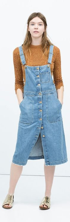 Leave it to Zara to roll out the perfect denim overall dress.