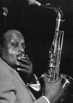 Ben Webster, NYC, 1950. Photo by Herman Leonard