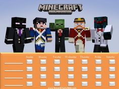 For all my boys (and some girls) who loooove minecraft! Minecraft Behavior Charts