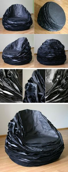 Black Paper 37 Armchair par Vadim Kibardin