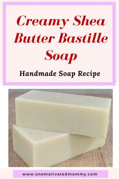 Creamy Shea Butter Bastille Soap - Castile Soap has been around for centuries. It is a natural soap that is made of Olive oil and - Handmade Soap Recipes, Soap Making Recipes, Handmade Soaps, Diy Soaps, Making Bar Soap, Bastille, Olive Oil Soap, Olive Oils, Shea Butter Soap