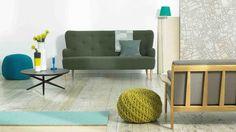 Habitat ( murs et sol neutres + accessoires colorés )