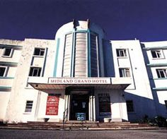 The Midland Hotel was built in Morecambe in the first Art Deco hotel in Britain. Places To Travel, Places To Go, Midland Hotel, Art Deco Hotel, Morecambe, Streamline Moderne, First Art, Winter Garden, Lancaster
