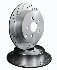 ATL Autosports Performance Brake Rotors Rear Pair Fits 2000 Ford Expedition ATL54047-06DDS, Silver