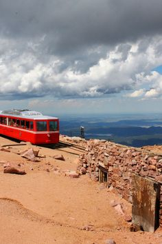 Pike's Peak in Colorado - My friend, Myra, and I rode the Cog Railroad to the top of Pike's Peak back in the Fun times! Colorado Homes, Colorado Rockies, Colorado Springs, Colorado Mountains, Vacation Places, Vacation Spots, Wonderful Places, Beautiful Places, The Places Youll Go