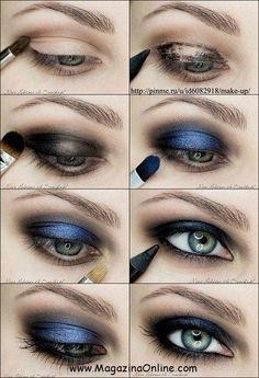 65b292f0685 20 Incredible Makeup Tutorials For Blue Eyes Blue Eye Makeup, Smokey Eye  Makeup, Love
