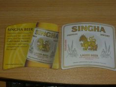 EN. aug THAILAND SINGHA OLD beer coaster NR16 Beer Mats, Lager Beer, Beer Coasters, Beer Tasting, Thailand, Asia, Ebay, Beer Bottle Caps