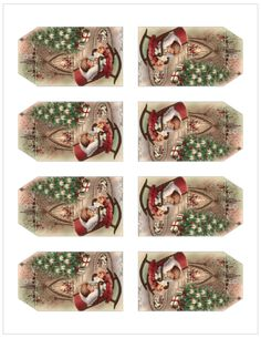 Vintage Christmas Gift Tags from The Birch Cottage - Avery 22802 Vintage Christmas Cards, Christmas Gift Tags, Christmas Images, Gift Tags Printable, Printable Vintage, Christmas Printables, Free Printables, Vintage Inspired, Decorative Boxes