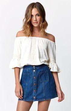 Bullhead Denim Co. Button Front Skirt