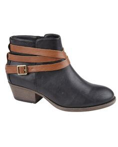 Vegan Leather Look Wrap Strap Ankle Boots from Fashion Conscience UK