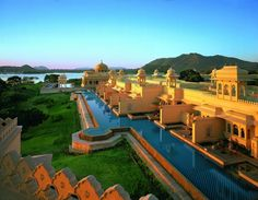 Oberoi Udaivilas, Udaipur, India, you'll feel like a raja when you open your doors to take a semi-private swim