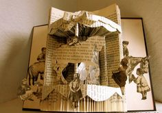 Folded Pages Book Sculpture Art | Animated stories come to life. Photo: Etsy.com/shop ...