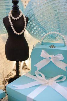 Decor Details from a Breakfast at Tiffany's Inspired Birthday Party via Kara's Party Ideas | KarasPartyIdeas.com (8)