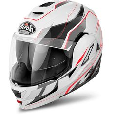 Airoh Rev Flip Up Helmet The Airoh Rev Flip is a feature-packed flip-up helmet, designed to give maximum comfort and protection in even the most extreme Modular Motorcycle Helmets, Motorcycle News, Flip Up Helmet, Revolution, Atv, Black, Design, Wordpress, Storage