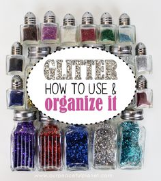 Glitter can be messy to work with but we've got some great hints and tips for you that make it a lot easier on use and cleanup! Learn how to use and organize glitter easily. If you're a crafter you're gonna love this!